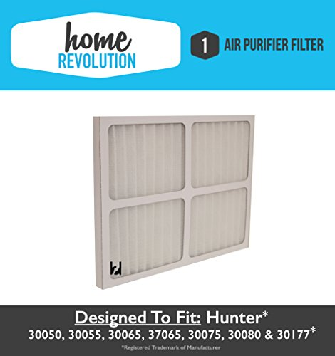 Hunter 30920 Home Revolution Brand Air Purifier Filter Replacement; Fits Hunter Models: 30050, 30055, 30065, 37065, 30075, 30080 & 30177
