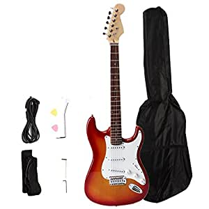 firekingdom full size electric guitar starter beginner package with accessories. Black Bedroom Furniture Sets. Home Design Ideas
