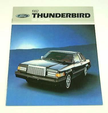 1982 82 Ford Thunderbird T-Bird Brochure Landau Tbird front-209976