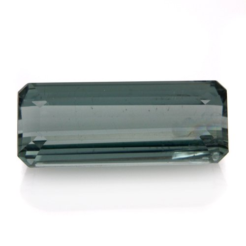 Natural Africa Light Green Tourmaline Loose Gemstone Emerald Cut 12*5mm 2.65cts