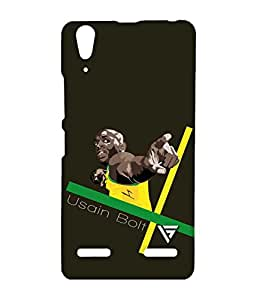 Vogueshell Usain Bolt Cartoon Printed Symmetry PRO Series Hard Back Case for Lenovo A6000