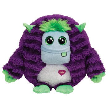 Ty Monstaz FRANKIE - purple/green Medium Plush
