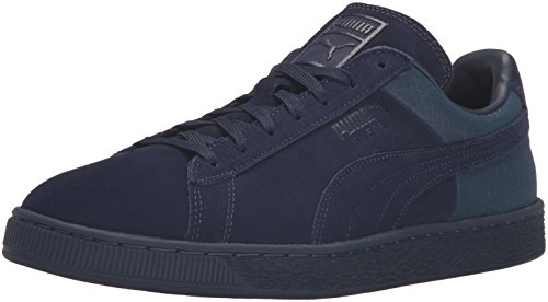 PUMA Men's Suede Classic Casual Emboss Fashion Sneaker, Peacoat, 11 M US (State Street Shoes For Men compare prices)