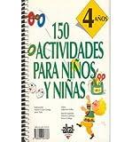 img - for 150 Actividades Para Nios y Nios de 4 Aos (Paperback)(English / Spanish) - Common book / textbook / text book