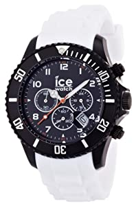 Ice-Watch Chronograph Black and White Big Silicone Watch CH.BW.B.S