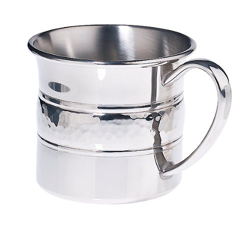 Lunt Pewter Hammered Baby Cup, 6-Ounce