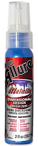 Eclectic Products 57080242 2 Pack oz. E6000 Allure Metallic Dimensional Design Adhesive Paint, Blue Swirl