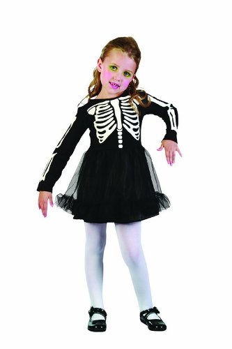 Bristol Novelty Black/White Skeleton Girl Toddler Costume Girls One Size