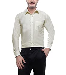 English Navy Men's Formal Shirt (2001Lemon44_Yellow_44)