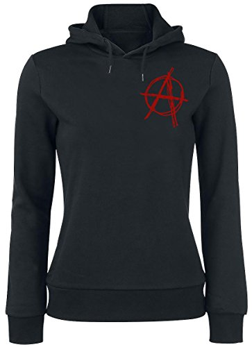 R.E.D. by EMP Anarchy Hoodie Felpa donna nero XS