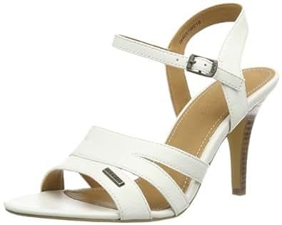 Esprit  Morita Sandal, Sandales pour femme - Blanc - White - Weiß (offwhite 103), 42