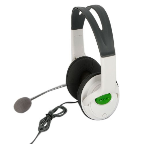 1 Pc Game Headset with Microphone Mic Compatible with Microsoft Xbox 360 White