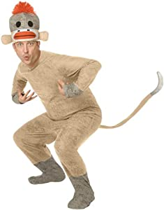 Palamon Unisex Sock Monkey Adult Costume
