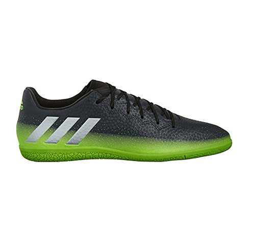 adidas Performance Men's Messi 16.3 in Soccer Shoe, Dark Grey/Metallic Silver/Neon Green, 10 M US (Football Messi compare prices)