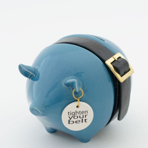 Money Talks Piggy Bank - Standard - Tighten Your Belt