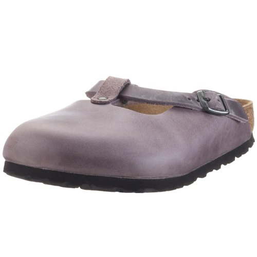 Birkenstock Fayette Smooth Leather, Style-No. 16193, Women Clogs, Antique Holunder, EU 39, slim width
