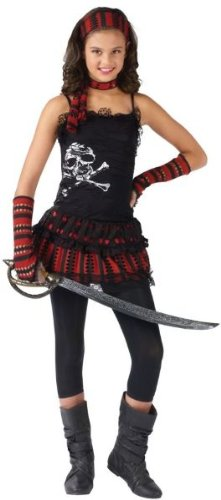 Skull Rocker Pirate Costume - Large front-929395