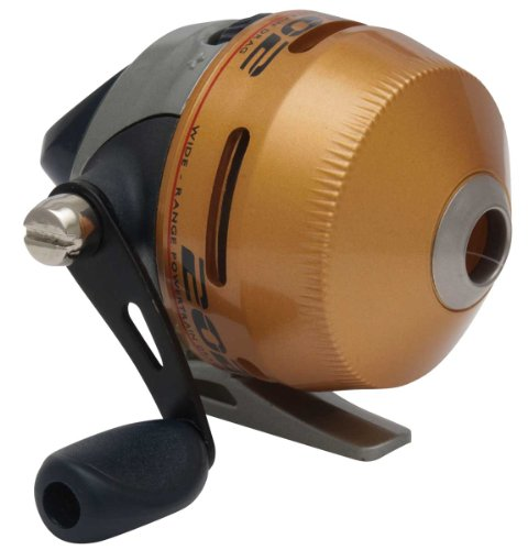 Zebco 202K-CP Spincast Reel with 75-Yards of 10-Pound Premium Line, Green Finish