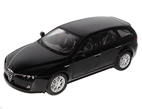 Alfa-Romeo-159-SW-Sportwagon-Schwarz-2005-2011-124-Welly-Modell-Auto