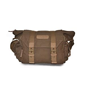 Caden F1 Brown Canvas DSLR Camera Bag Shoulder Messenger Bag for Sony Canon Nikon