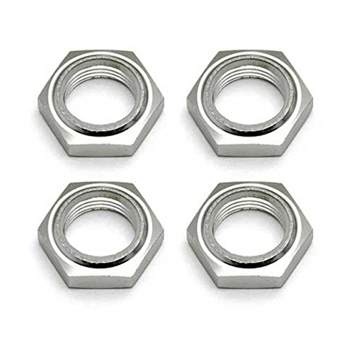 Team Associated 89405 SC8 Nyloc Wheel Nuts, Silver