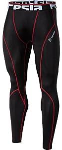 TM-P16-BKRZ_Medium j-L Tesla Men's Cool Dry Compression Baselayer Pants Leggings Capri Shorts Tights P16
