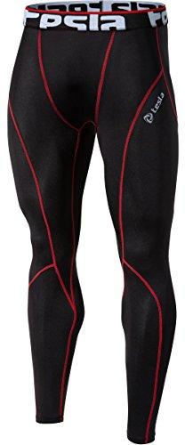 TM-P16-BKRZ_Small j-M Tesla Men's Cool Dry Compression Baselayer Pants Leggings Tights P16