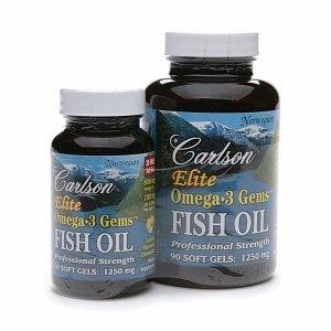 Carlson elite omega 3 gems fish oil 1250mg for Carlson fish oil amazon