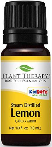 Lemon Essential Oil (Steam Distilled) 100% Pure, Undiluted, Therapeutic Grade. (10 ml (1/3 oz))