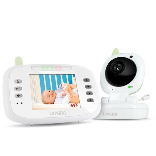 Levana Lv-Tw502 Safe N' See Advanced 3.5-Inch Digital Video Wireless Baby Monitor With Talk To Baby Intercom And Remote Controlled Lullabies