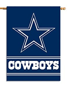 NFL Dallas Cowboys 2-Sided 28-by-40-Inch House Banner by Fremont Die