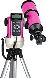 iOptron 9502P-A SmartStar-R80 Computerized Telescope - Pulsar Pink with Carry Bag