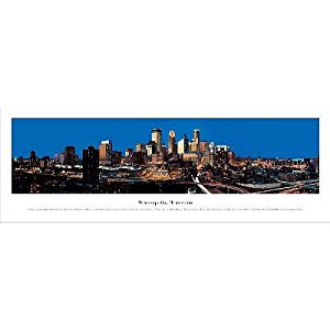 (14x40) Christopher Gjevre (Minneapolis, Minnesota) Panorama Art Poster Print