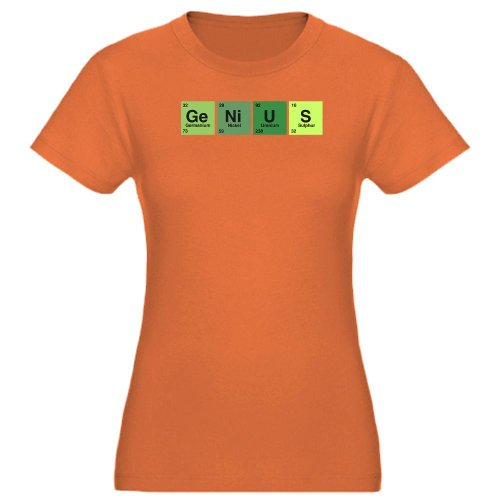 Artsmith Inc Women S Fitted T Shirt Dark Genius Periodic Table Of