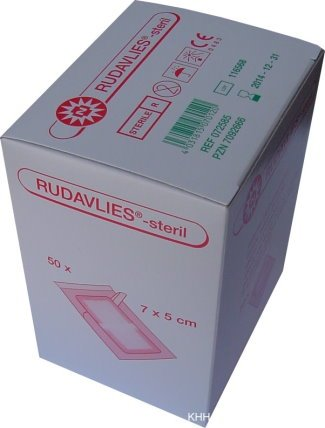 50 St. steril Pflaster Wundpflaster Rudavlies 7 x 5 cm