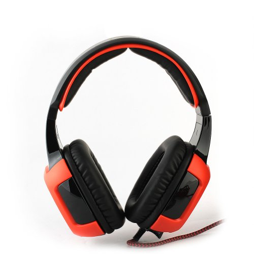 Sades Sa-906 Pc Gaming Headset W/ Microphone + Volume Control - Red/Black