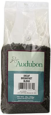 Audubon Whole Bean Coffee, Decaf Breakfast Blend, 32 Ounce