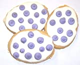 Scott's Cakes White Iced Easter Egg Sugar Cookie with Lavender Polka-Dots in a Decorative Mini Tin