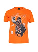 Character Club kids Camiseta Manga Corta Darth Sketchy (Naranja)