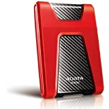 ADATA USA DashDriv Durable HD650 1TB Anti-Shock Portable External Hard Drive - Red (AHD650-1TU3-CRD)