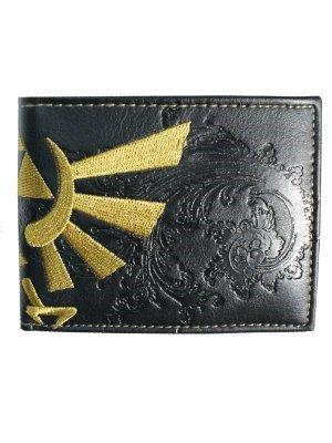 Legend of Zelda - Portafoglio con logo di Zelda con licenza originale della Nintendo - Logo cucito - Ottima idea regalo