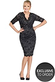 Twiggy for M&S Woman Floral Lace Dress with Secret Support&#8482;