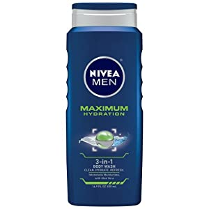 Nivea for Men Maximum Hydration 3-in-1 Body Wash, 16.9 Ounce, (Pack of 3)