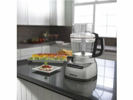 #1 KitchenAid KFP1333ACS Food Processor Architect 13 Cup (Cocoa Silver) Bundle Blade Disc Exact Slice System
