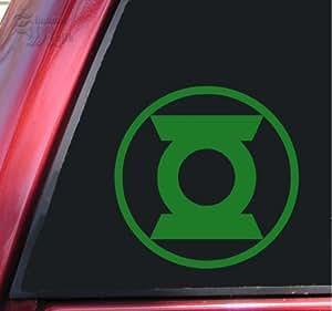 Green Lantern Symbol #2 Vinyl Decal Sticker - Green - 6 inch size by ShadowMajik