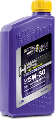Royal Purple 31530 HPS 5W-30 High Performance Street Synthetic Motor Oil with Synerlec - 1 Quart Bottle