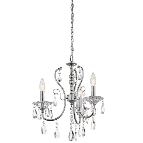 B008F9ZBS4 Kichler Lighting 43120CH Jules 3-Light Mini-Chandelier, Chrome Finish with Crystal Accents