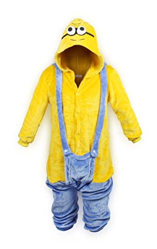 ReliBeauty Children Minions Costume One-Piece Pajamas