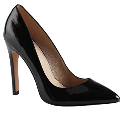 ALDO Frited - Women High Heel Shoes - Black Patent - 7