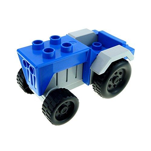 1 x Lego Duplo Fahrzeug Traktor blau neu-hell grau Auto Bauernhof Tier Hof Set 4669 klein tractor